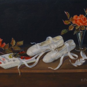 """X(SOLD) """"The White Ballet Shoes"""" Romeo & Juliet"""