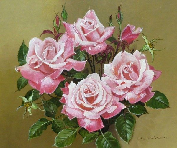 A Spray of just Pink Roses