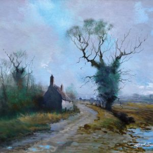 """X(SOLD) Glass Protected Oil – """"The Victorian Style collection"""" -After Heavy Rain"""