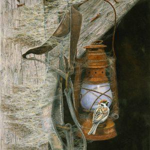 Old Lantern (Tree Sparrows)