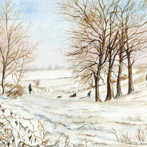 Scenes – Sledging at Braydeston, Norfolk