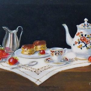 X (SOLD) Afternoon Tea, Scones and Strawberries