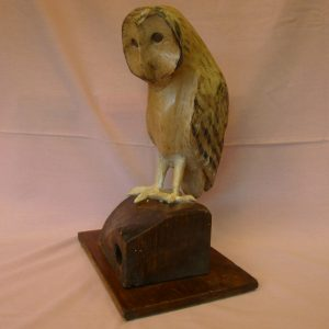 Barn Owl (Sycamore with Pyrography finish)