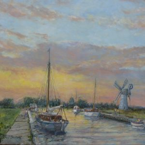 A Summer Evening, Thurne Dyke