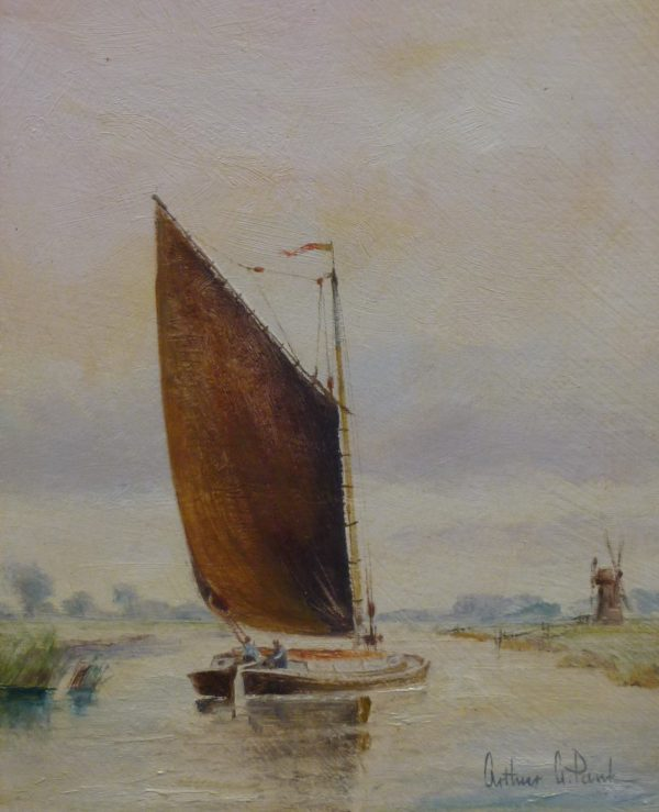 X (SOLD) Old Norfolk Wherry and Mill
