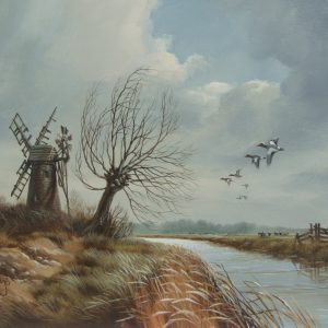 Widgeon over Marshes