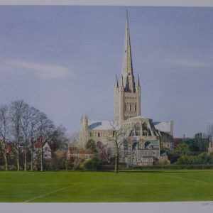 Signed Limited Edition Print – Norwich Cathedral
