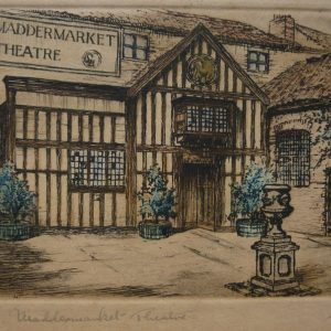 Madermarket Theatre, Norwich – Tinted Engraving