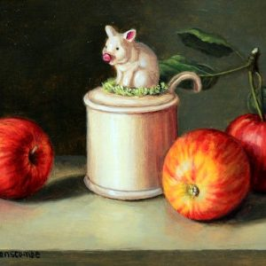 X08 (SOLD) Pig Pot with Apples