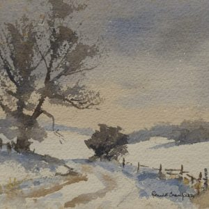 X (SOLD) Snow on Peddars Way, January 1984